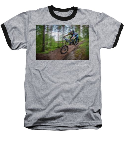 Downhill Race Baseball T-Shirt
