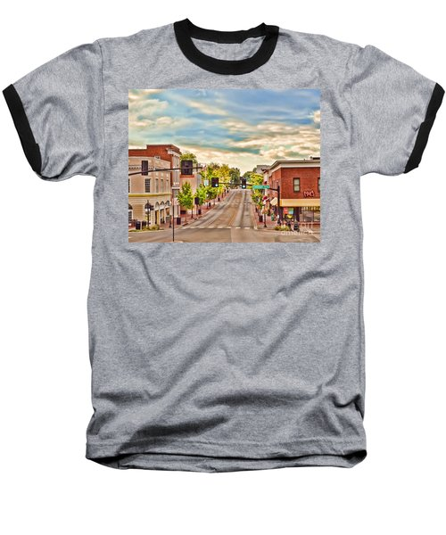 Downtown Blacksburg Baseball T-Shirt by Kerri Farley