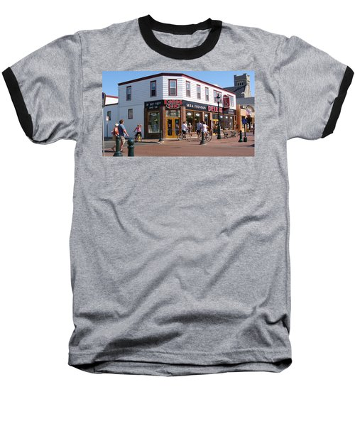 Baseball T-Shirt featuring the painting Downtown Cape May New Jersey by Rod Jellison