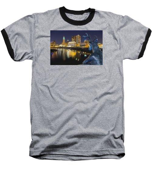 Downtown Deer View Columbus Baseball T-Shirt