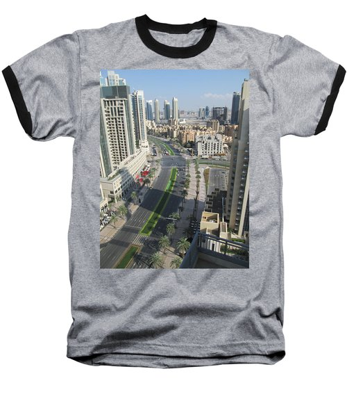 Baseball T-Shirt featuring the photograph Downtown Dubai by Marie Neder