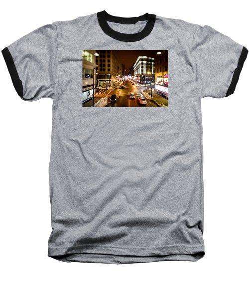 Downtown In The Itty-bitty City Baseball T-Shirt