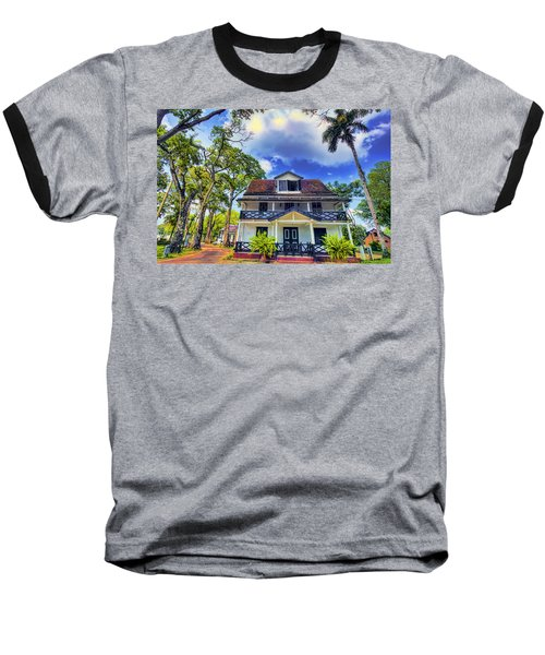 Downtown In The Tropics Baseball T-Shirt