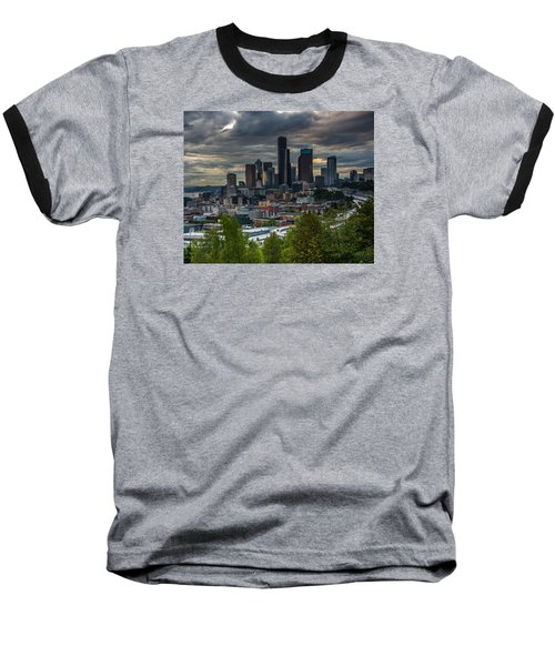 Downtown Baseball T-Shirt by Jerry Cahill