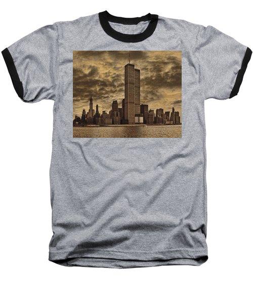 Downtown Manhattan Circa Nineteen Seventy Nine  Baseball T-Shirt by Chris Lord