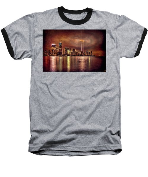 Downtown Manhattan September Eleventh Baseball T-Shirt