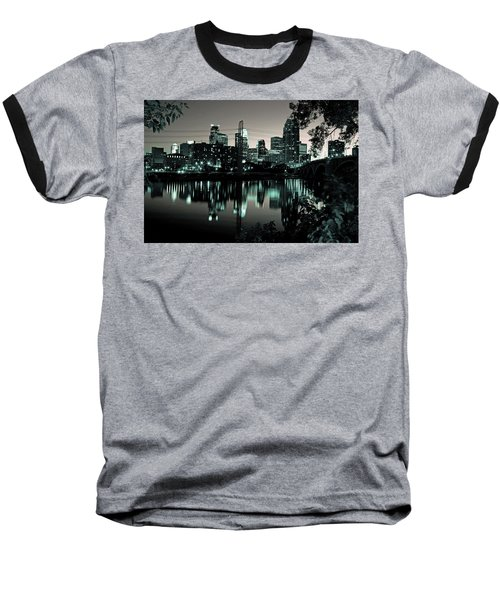 Downtown Minneapolis At Night II Baseball T-Shirt