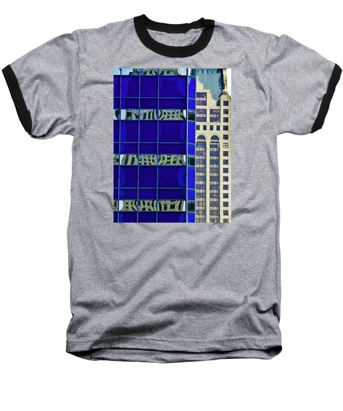 Downtown Mke Baseball T-Shirt by Michael Nowotny