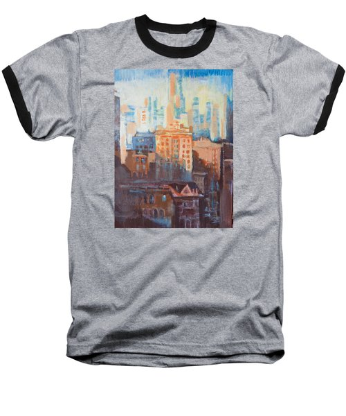 Downtown Old And New Baseball T-Shirt