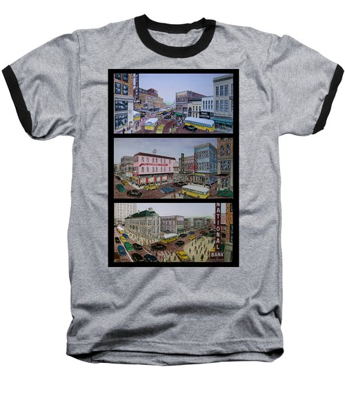 Downtown Portsmouth 1948 Baseball T-Shirt