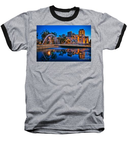 Downtown San Diego Waterfront Park Baseball T-Shirt by Sam Antonio Photography
