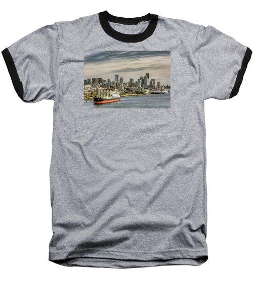 Downtown Seattle Baseball T-Shirt by Lewis Mann