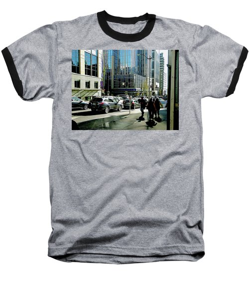 Downtown Seattle Baseball T-Shirt