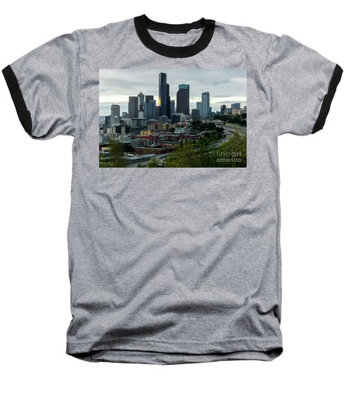 Downtown Seattle,washington Baseball T-Shirt