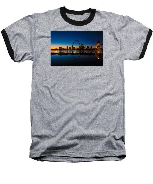 Downtown St. Louis And The Gateway Arch Baseball T-Shirt by Matthew Chapman