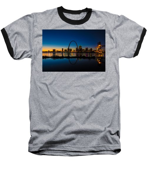 Downtown St. Louis And The Gateway Arch Baseball T-Shirt