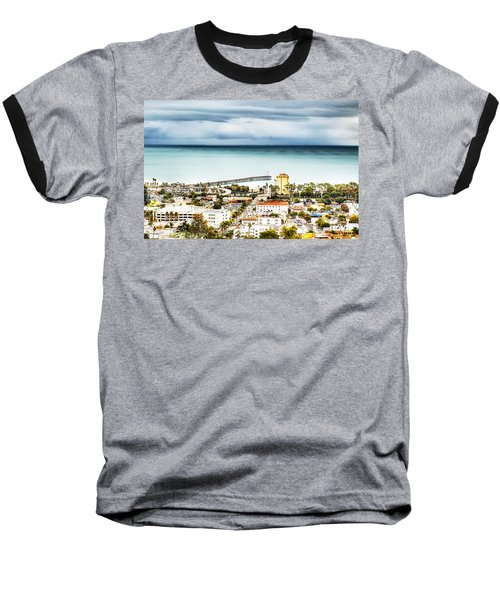 Downtown Ventura And Pier Baseball T-Shirt