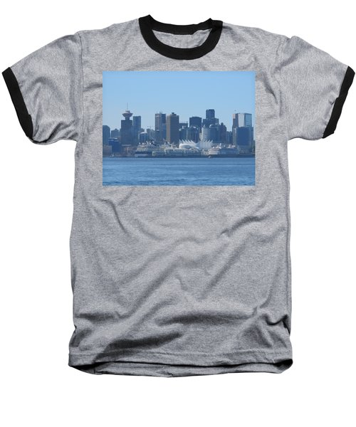 Downtown View From North Vancouver Baseball T-Shirt