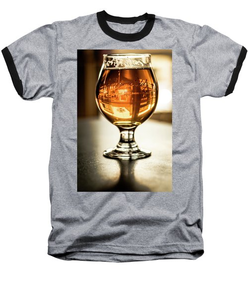 Downtown Waukesha Through A Glass Of Beer At Bernie's Taproom Baseball T-Shirt