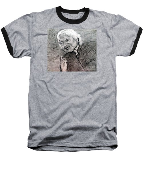 Baseball T-Shirt featuring the painting Dr. Abdul Khalam by Brindha Naveen