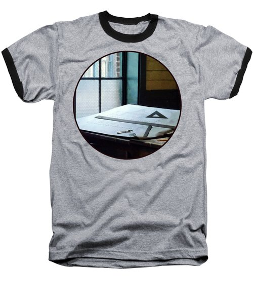 Drafting - Triangle Ruler And Compass Baseball T-Shirt