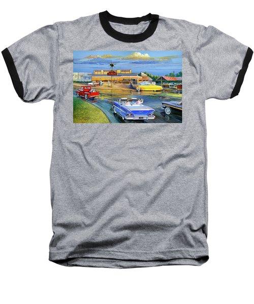 Dragging The Circle - Hub Diner Baseball T-Shirt