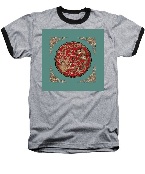 Dragon And Phoenix Baseball T-Shirt