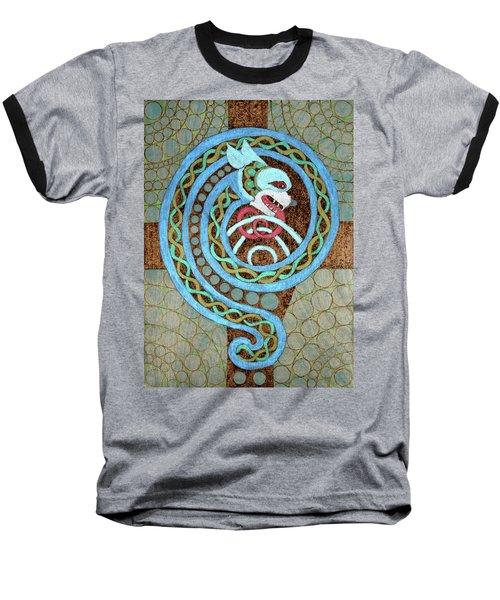 Dragon And The Circles Baseball T-Shirt