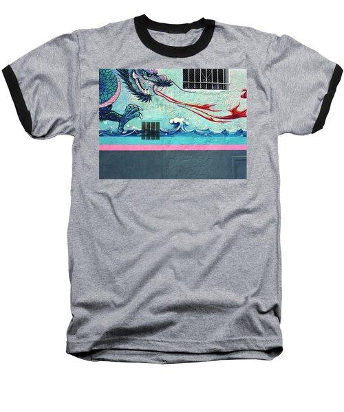 Dragon Breath Baseball T-Shirt by Jan W Faul