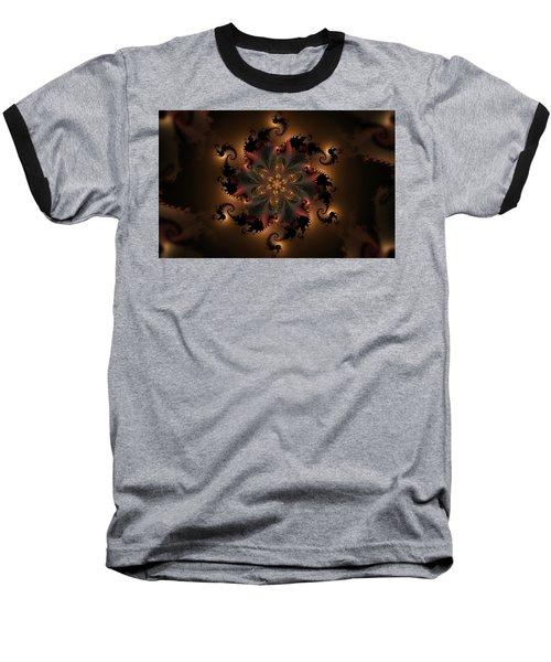 Dragon Flower Baseball T-Shirt by GJ Blackman
