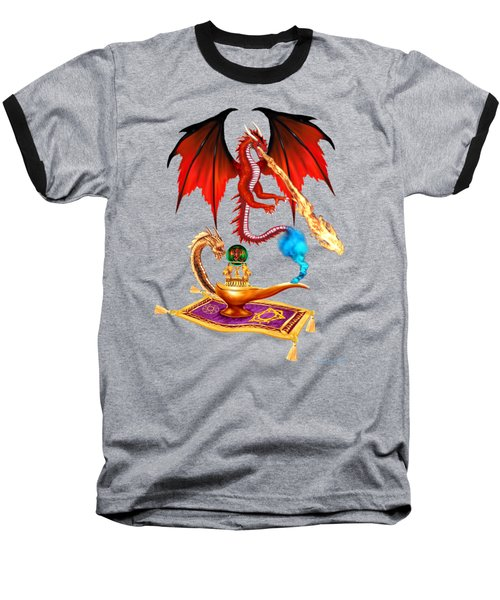 Dragon Genie Baseball T-Shirt by Glenn Holbrook