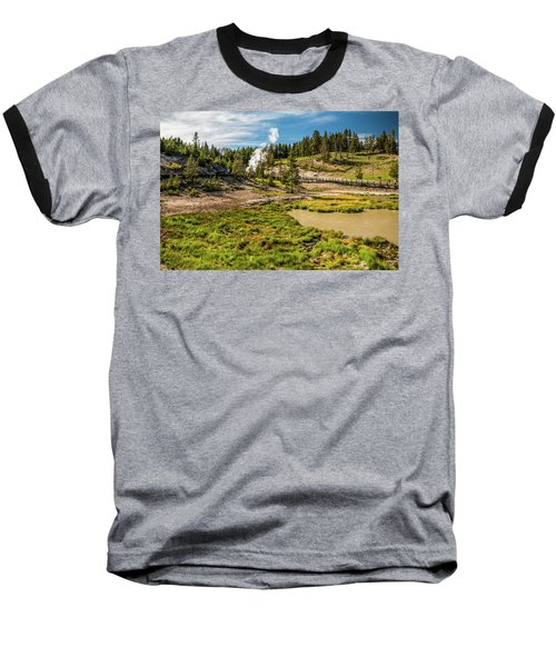 Dragon Geyser At Yellowstone Baseball T-Shirt