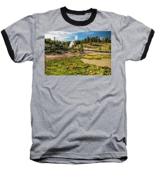 Dragon Geyser At Yellowstone Baseball T-Shirt