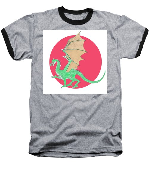 Dragon Illustration 1 Baseball T-Shirt