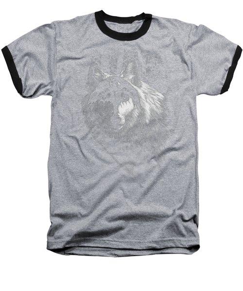 Baseball T-Shirt featuring the digital art Dragon Wolf T-shirt by Stanley Morrison