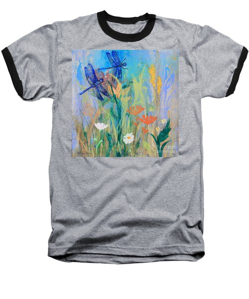 Dragonflies In Wild Garden Baseball T-Shirt