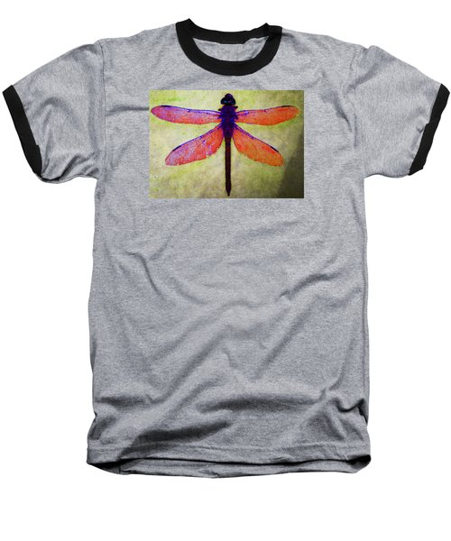 Dragonfly 7 Baseball T-Shirt by Timothy Bulone