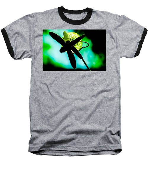 Dragonfly Crystal Baseball T-Shirt by Bruce Pritchett