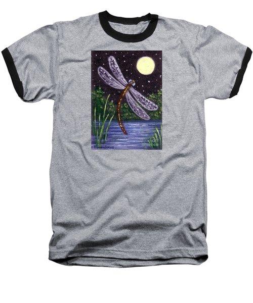 Dragonfly Dreaming Baseball T-Shirt by Sandra Estes