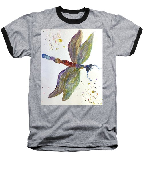 Dragonfly Baseball T-Shirt by Lucia Grilletto