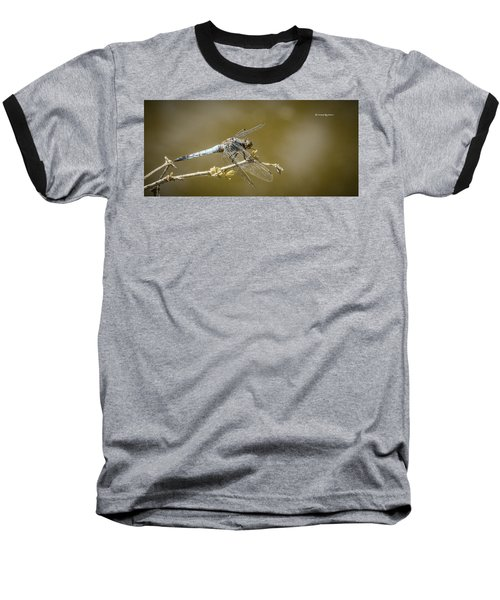 Baseball T-Shirt featuring the photograph Dragonfly On The Spot by Stwayne Keubrick