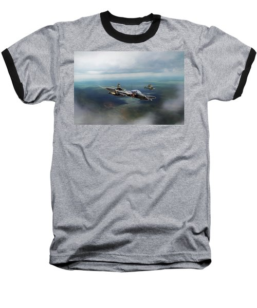 Baseball T-Shirt featuring the digital art Dragonfly Special Operations by Peter Chilelli