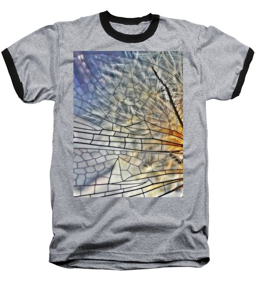 Dragonfly Wing Baseball T-Shirt