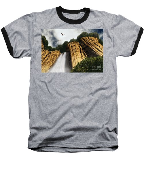 Dragons Den Canyon Baseball T-Shirt by Richard Rizzo