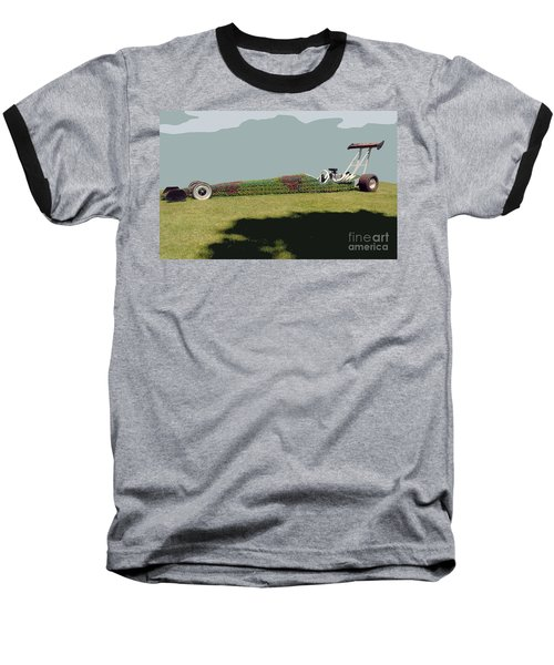 Dragster Flower Bed Baseball T-Shirt