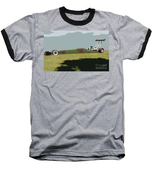 Dragster Flower Bed Baseball T-Shirt