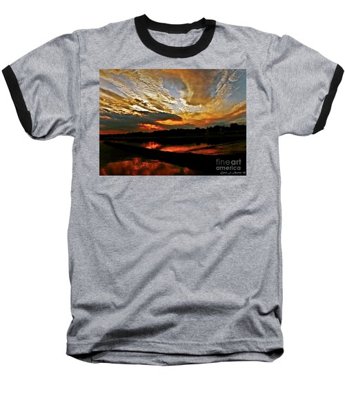 Drama In The Sky At The Sunset Hour Baseball T-Shirt by Carol F Austin