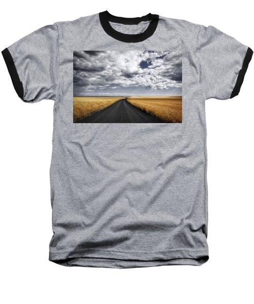 Drama On The Horse Heaven Hill Baseball T-Shirt by Lynn Hopwood