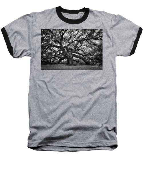 Dramatic Angel Oak In Black And White Baseball T-Shirt