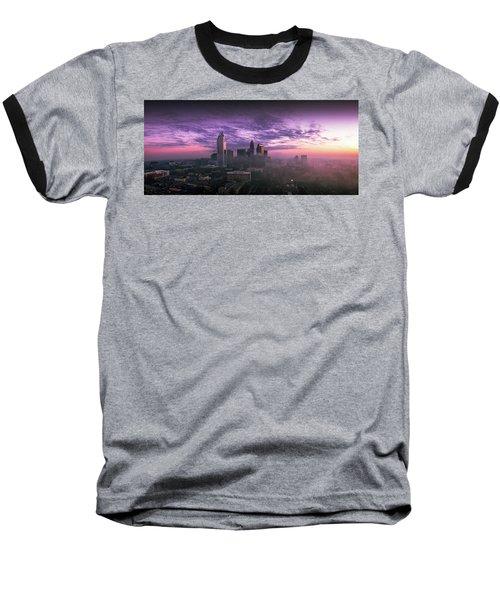Dramatic Charlotte Sunrise Baseball T-Shirt